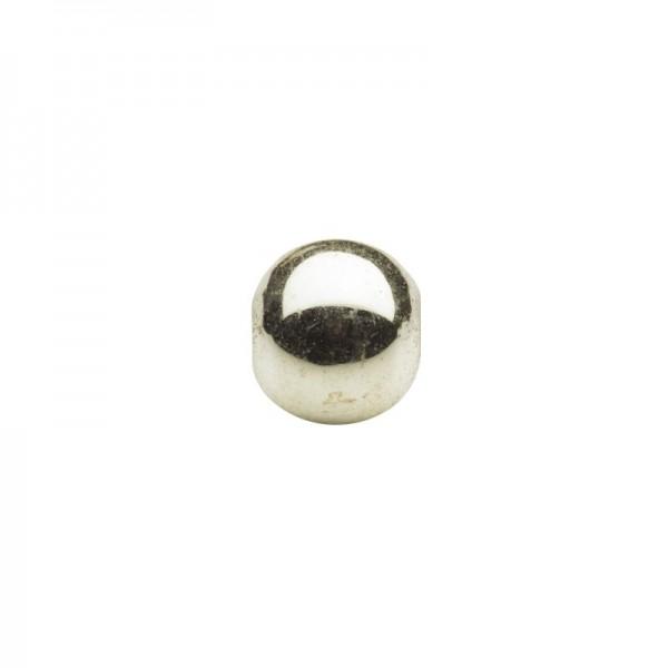 Metallic-Perlen, Ø6 mm, 100 Stück, hellgold