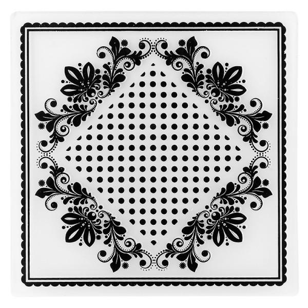 Prägeschablone, Hintergrund Ornamentik 4, 14,7cm x 14,7cm
