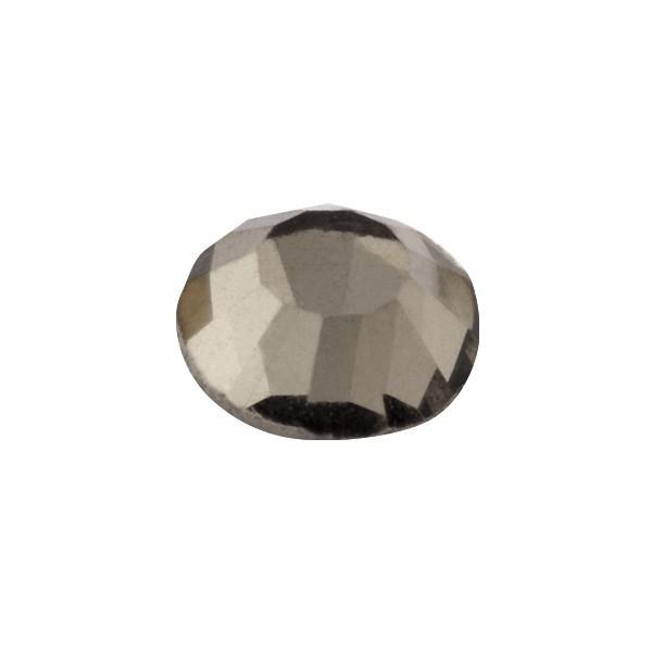 Hot-Fix Glas-Kristalle zum Aufbügeln, Ø5mm, 150 Stk., rauchquarz