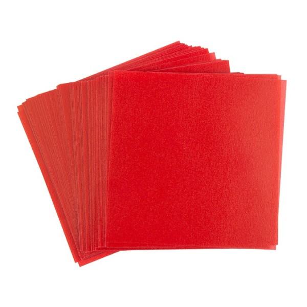 Faltpapiere, transparent, 15cm x 15cm, 110 g/m², rot, 100 Stück