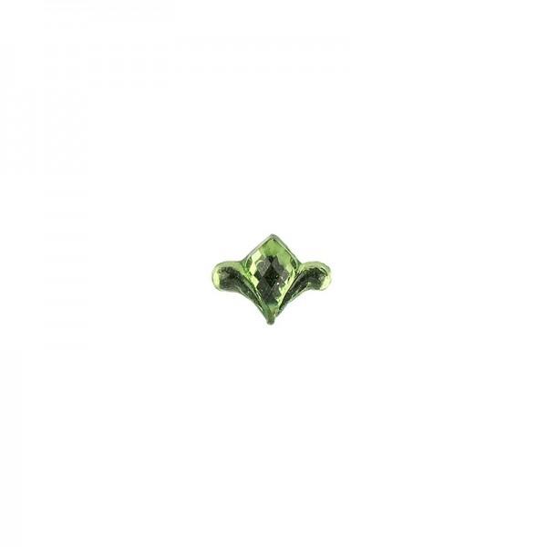 Ornament-Glitzersteine, 50 Stück, Design 8, grün