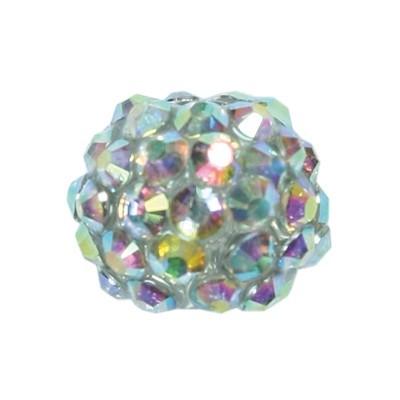 Kristall-Perlen, Ø14 mm, 10 Stück, hellgrün-irisierend