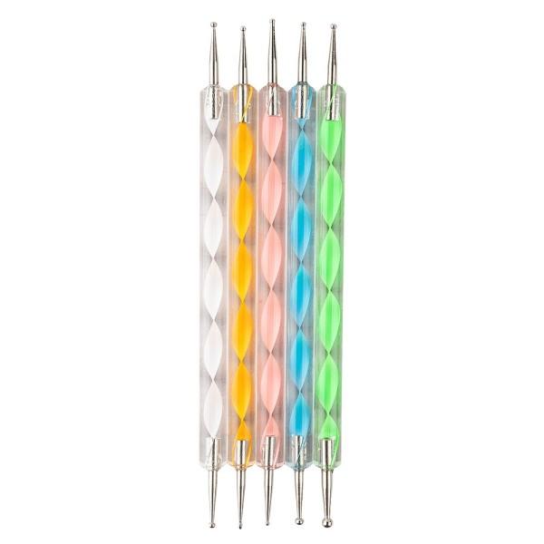 Rundkopfnadeln für Easy Dotting, Punktierungswerkzeuge mit Metall-Spitzen, 5 Stück