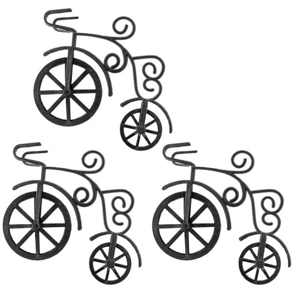 Deko-Fahrräder 1, Rohlinge, 12cm x 9,5cm x 4cm, 3 Stück