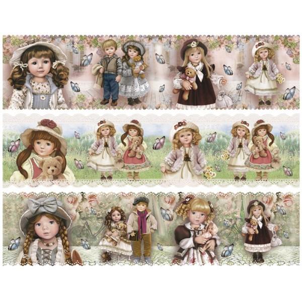 """Zauberfolien """"Puppen"""", Schrumpffolien für Ø10cm, 8,5 cm hoch, 6 Stück"""