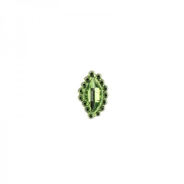 Ornament-Glitzersteine, 50 Stück, Design 7, grün
