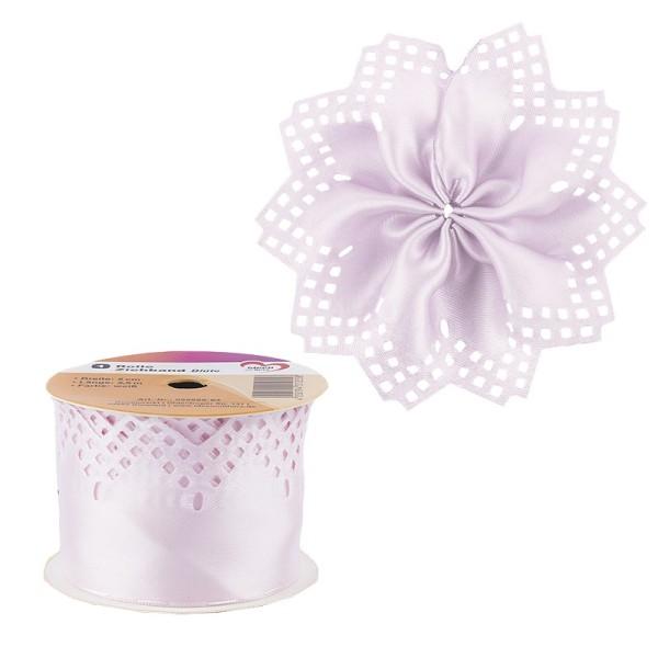 "Ziehband ""Blüte"", 5cm breit, 2,5m lang, rosa"