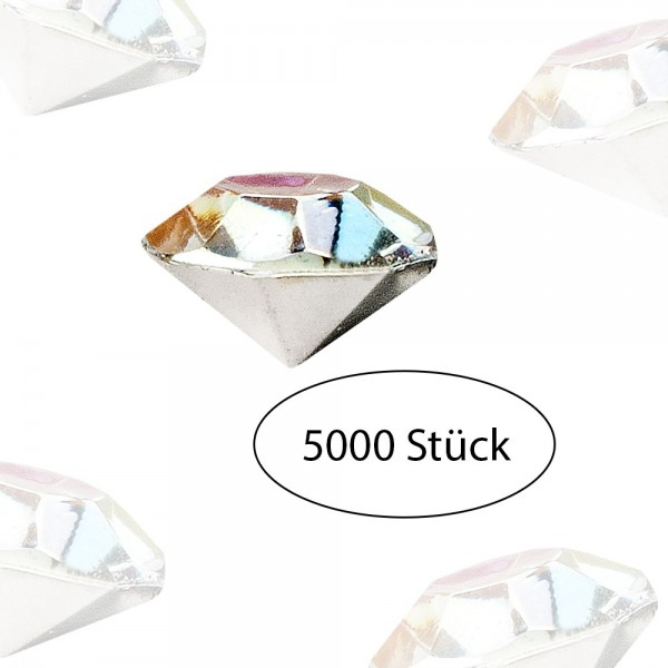 Streu-Diamanten, 4mm, klar, irisierend, 5000 Stück