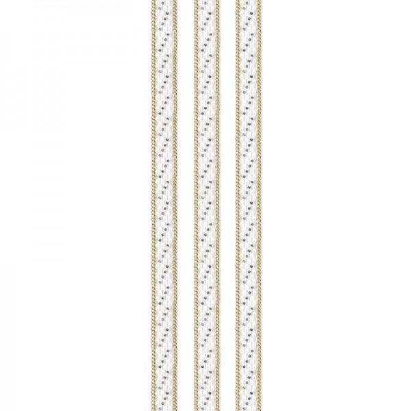 """Premium-Schmuck-Bordüren """"Eleganz 2"""", selbstklebend, 29cm, gold/perlmutt"""