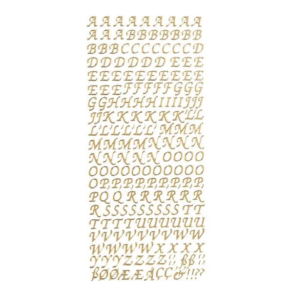 Sticker, Alphabet 1 Großbuchstaben, Perlmuttfolie, gold