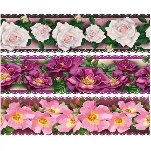 """Zauberfolien """"Rosen Deluxe"""", Schrumpffolien für Ø12cm, 11 cm hoch, 6 Stück"""