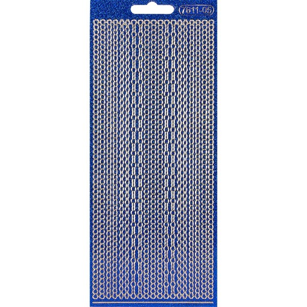 Microglitter-Sticker, Perlen-Bordüren, 3mm, blau