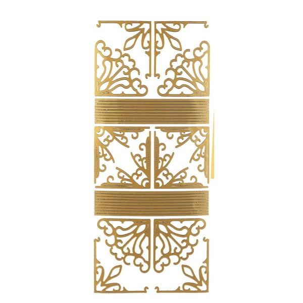 Sticker Ecken & Linien, gold