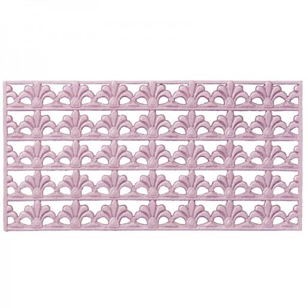 Wachs-Bordüren, Französische Lilie, 5 Bordüren à 2 x 10 cm, rosé