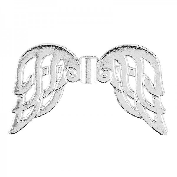 Filigrane Engelsflügel, Design 6, 2,3cm, silber, 20 Stück