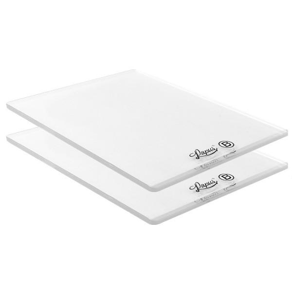 Kunststoffplatten B, für Präge-& Stanzmaschine, 15cm x 19,5cm, 0,3cm dick, 2 Stück