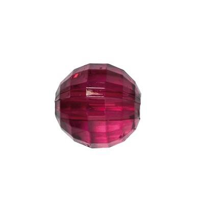 Facetten-Perlen, transparent, Ø8mm, 100 Stück, weinrot