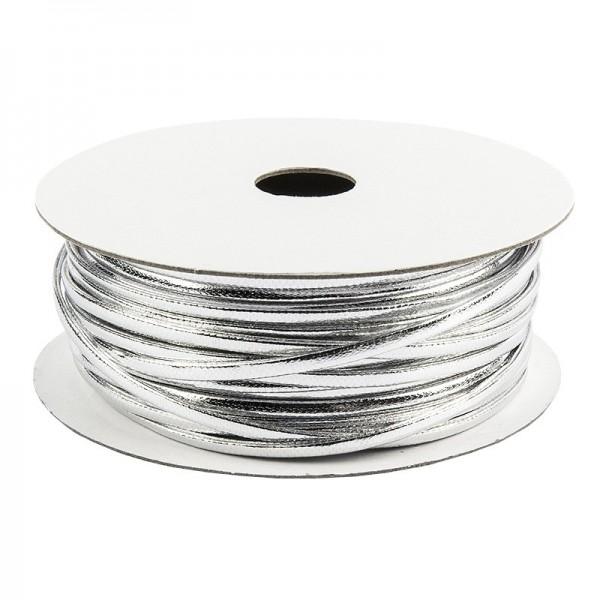 Deko-Band, 5m lang, 0,2cm breit, silber