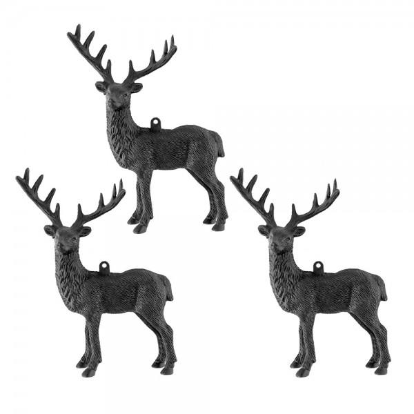 Deko-Hirsche 3, Rohlinge, 12cm x 14,5cm x 25cm, mit Öse zum Aufhängen, 3 Stück