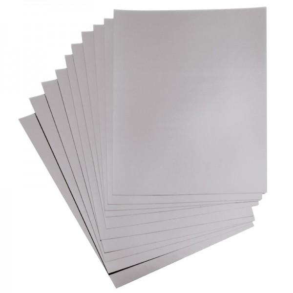 Folienpapiere, Spiegelfolie, silber (beidseitig), DIN A5, 10 Bogen
