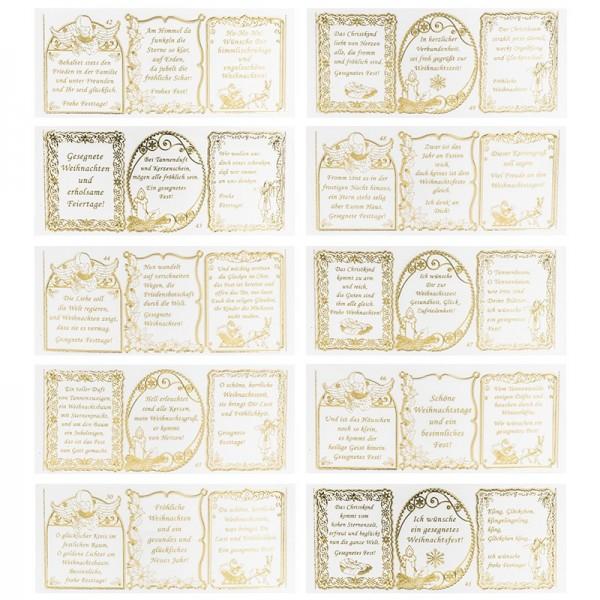 Ideen mit Herz Gravur-Sticker Rente /& mehr Weihnachten Geburtstag transparent//Gold 10 Bogen /à 10 x 23 cm Goldene Aufkleber zum Basteln /& Dekorieren Zier Ornamente