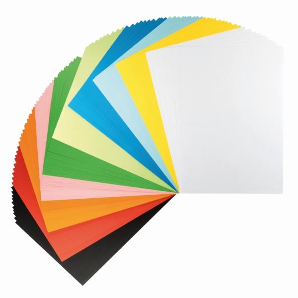 Tonpapier, DIN A4, 150 g/m², 10 verschiedene Farben, 100 Bogen