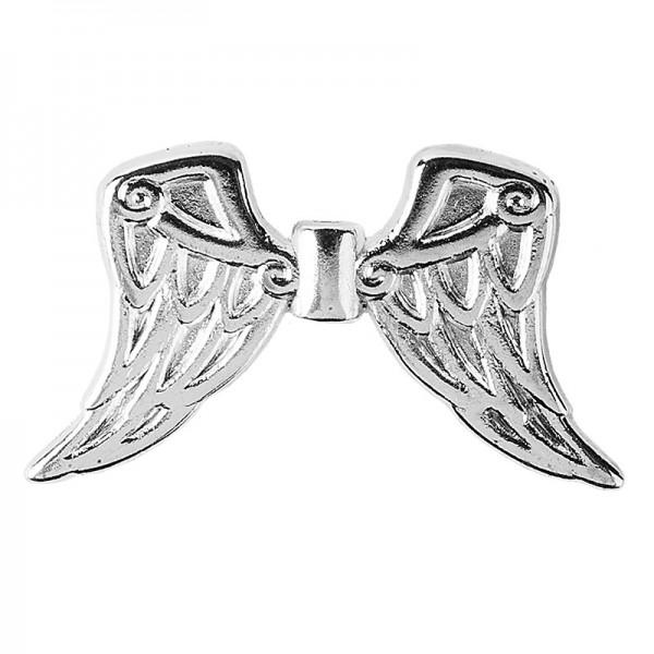 Engelsflügel, Design 7, 1,9cm, silber, 30 Stück