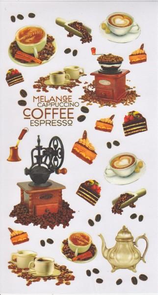 Rubbel Sticker Bogen, Kaffee