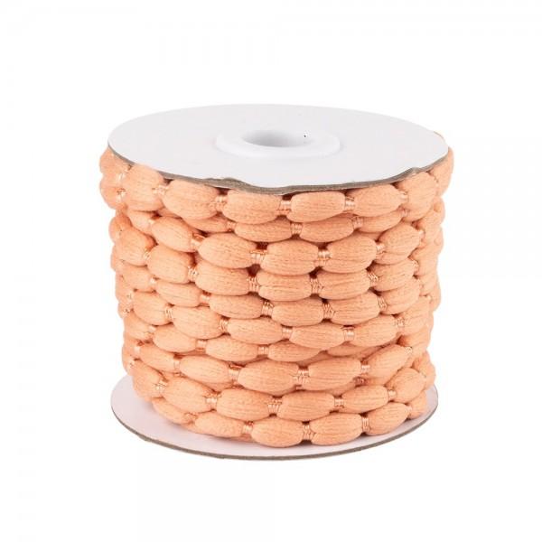 Pompon-Band, Ø 1cm, 10m, auf Rolle, apricot