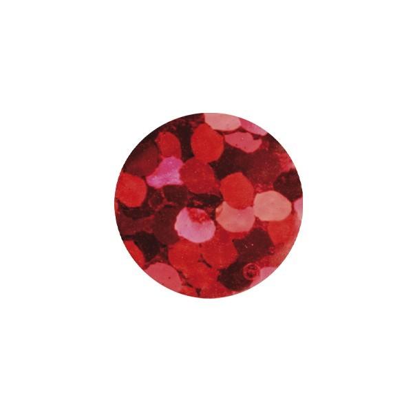 Bügel-Pailletten, 500 Stück, Ø4mm, rot