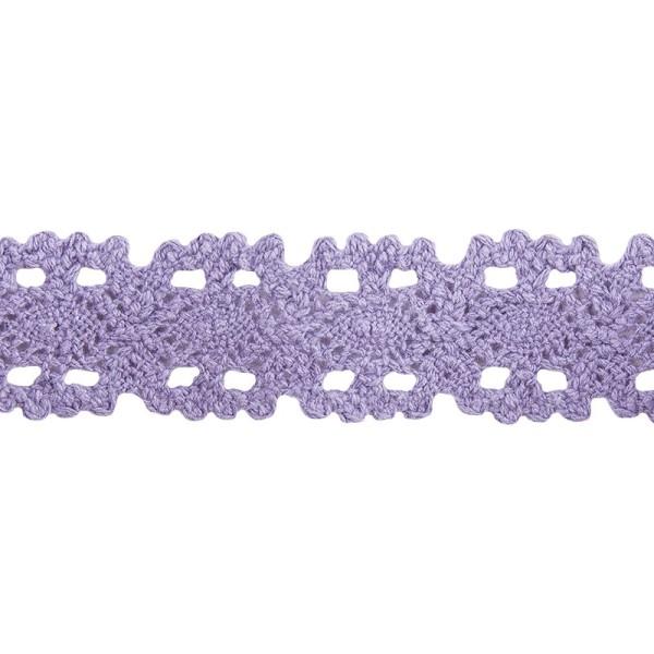 Häkelspitze Design 10, 3,2cm breit, 2m lang, flieder