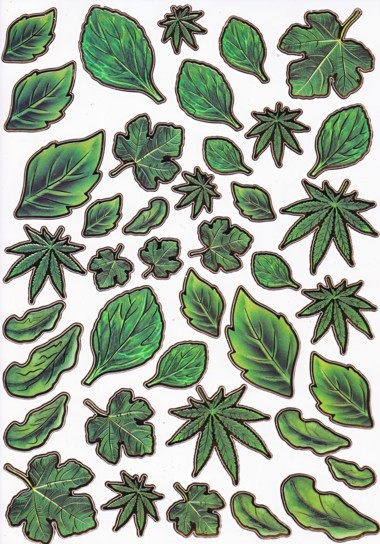 Ultra Gloss Sticker Bogen, Blätter