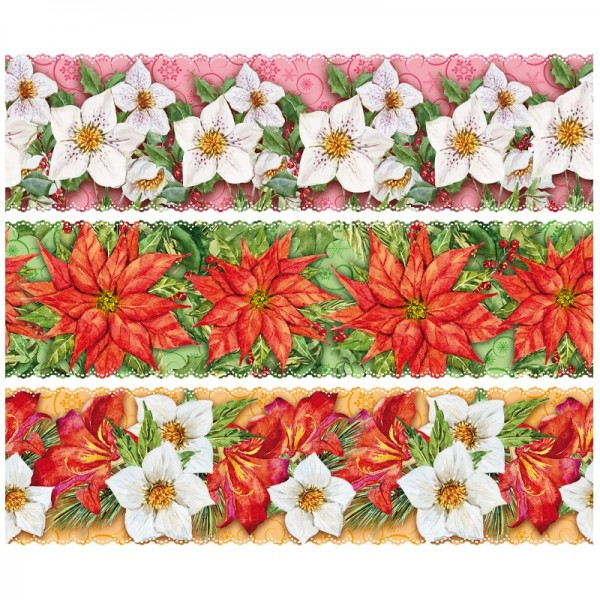 """Zauberfolien """"Winterblüten"""", Schrumpffolien für Ø9cm, 8,5cm hoch, 6 Stück"""