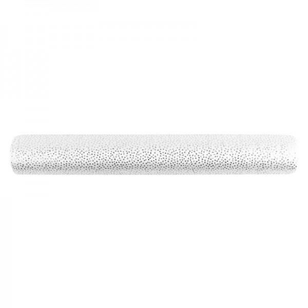Deko-Stoff, Punkte, 28cm breit, 3m lang, grau, silber