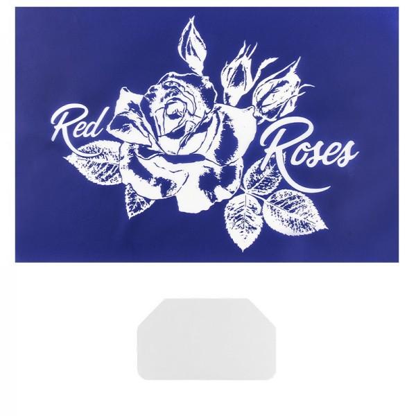 Siebdruckschablone Rose, 32,5cm x 22,5cm, selbstklebend, inkl. Rakel