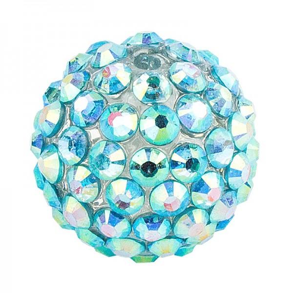 Kristall-Perlen, Ø 18mm, mint-irisierend, 10 Stück