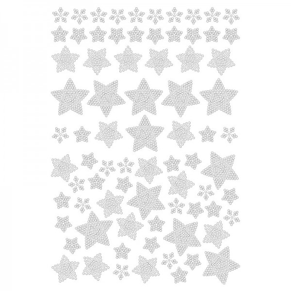 Bügelstrass-Design, DIN A4, klar, Stern 2
