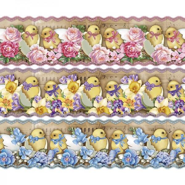 """Zauberfolien """"Nostalgie-Küken"""", Schrumpffolien für Eier mit 10cm x 7,5cm, 9,3cm hoch, 6 Stück"""