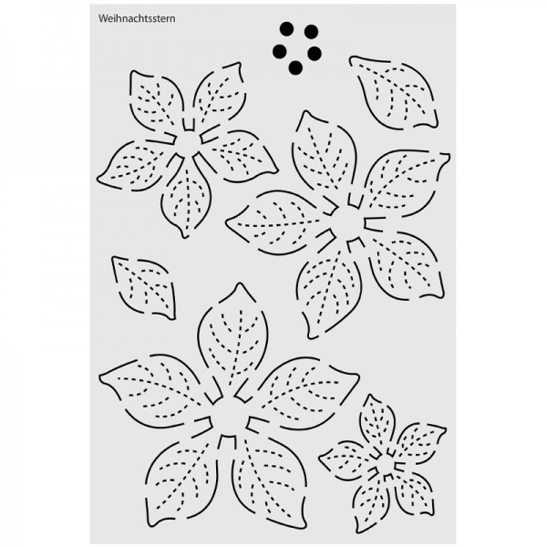 """Design-Schablone Nr. 7 """"Weihnachtsstern"""", DIN A4"""