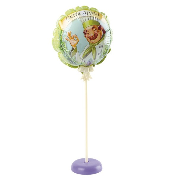 Zauber-Ballon mit Stab & Podest, Ø 11,5 cm, 31,5 cm hoch, Guten Appetit