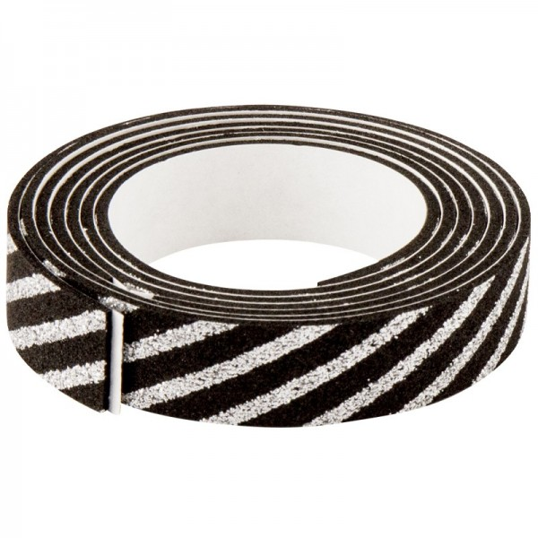 3-D Glamour-Tape/Deko-Klebeband, 15mm x 120cm, schwarz/silber