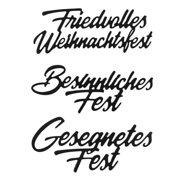 Stanzschablonen, Wünsche & Gratulationen 6, 3,1cm bis 8,1cm, 3 Stück