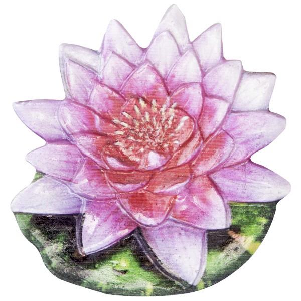 Wachsornament Seerose 1, farbig, geprägt, 7cm