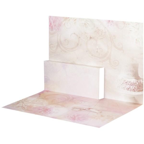 Pop-Up-Grußkarten-Einleger, gefaltet 11 x 15,5 cm, Torte