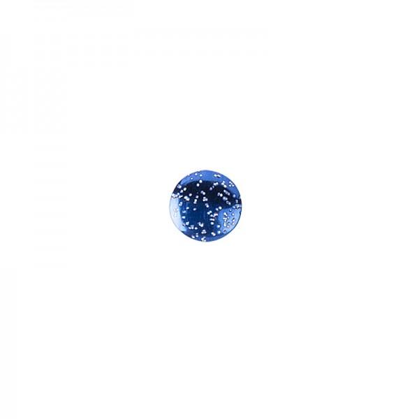 Hot-Fix Glitzer-Nieten zum Aufbügeln, Ø 6mm, blau, 200 Stück