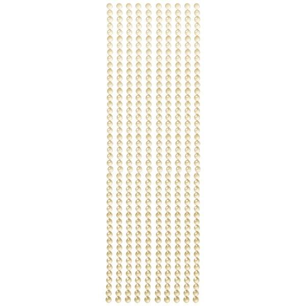 Kristall-Bordüren, selbstklebend, Ø6mm, gold