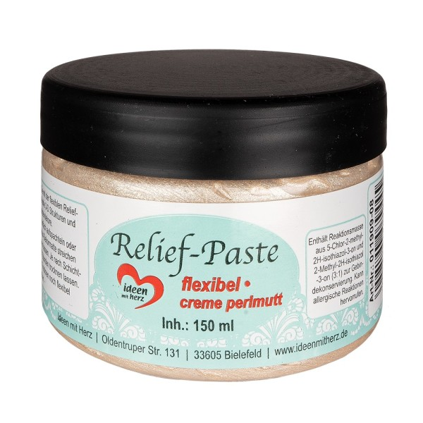 Relief-Paste, flexibel, creme-perlmutt, 150ml