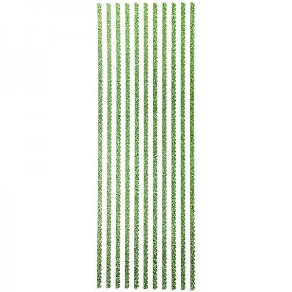 Glitzer-Bordüren, Anna, selbstklebend, 10cm x 30cm, lindgrün