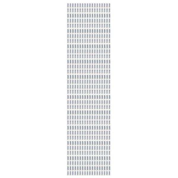 Schmuckstein-Bordüren, selbstklebend, facettiert, irisierend, 29cm, Band, weiß