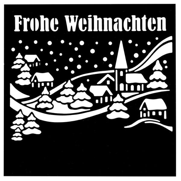 Stanzschablone, Frohe Weihnachten 3, 14cm x 14cm, passend für gängige Stanzmaschinen